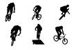 biker silhouettes