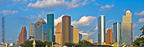 Poster Texas City skyline
