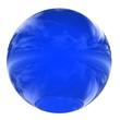 Leinwanddruck Bild - High resolution 3D blue glass sphere isolated on white