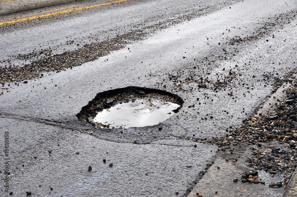Fototapeta road damage