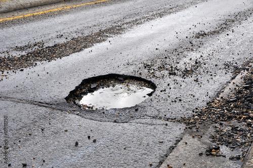 Photo road damage