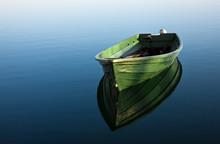 Ruderboot Auf See, Mit Spiegel...