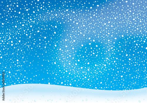 Foto op Aluminium Blauw Snowstorm