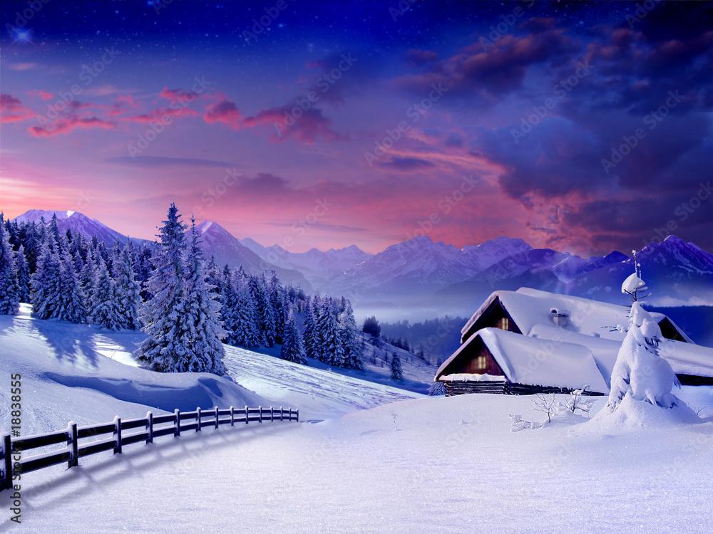 Fototapety, obrazy: Merry Christmas! Happy New Year!!!