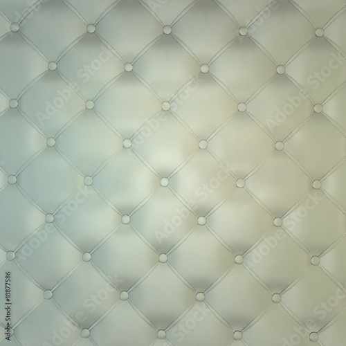Sepia luxury buttoned white leather
