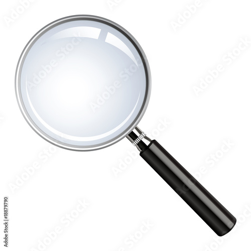 Realistic vector magnifying glass Fototapet
