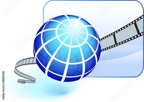 Fototapeta International film festival background