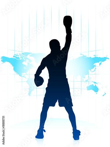 Photo  boxing world championship background