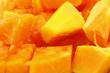 morceaux papaye mûre