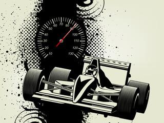 inky dribble strip racing car