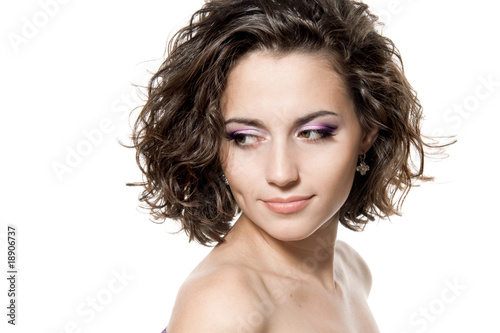 Face of a beautiful woman Canvas-taulu