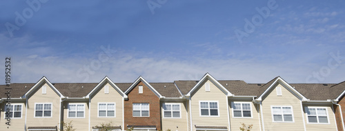 apartment roofline Canvas Print