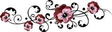 Stiefmütterchen, Blumen, Blüten, Ranke, Floral, Frühling