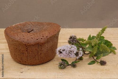 Fotobehang Bonsai moelleux au chocolat