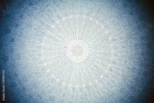 Photo sur Aluminium Tunisie blue toned ceiling in arabian style