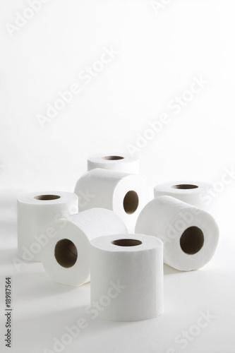 Fotografía  papel higiénico blanco rollos