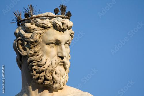 Fotografija  Volto Di Nettuno - Statua Nella Piazza Della Signoria, Firenze