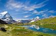 canvas print picture - Matterhorn Schweiz Riffelsee