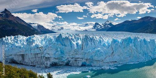 Photo Stands Blue jeans Perito Moreno Glacier, Patagonia, Argentina - Panoramic View