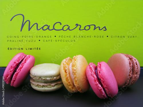 Poster Macarons macarons gourmands