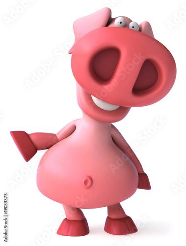 In de dag Boerderij Cochon rose présente