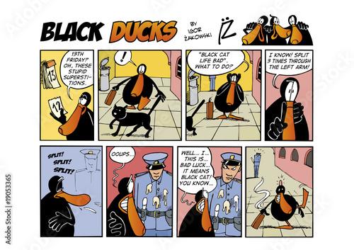 Foto op Plexiglas Comics Black Ducks Comic Strip episode 38