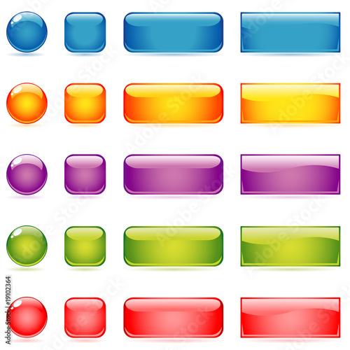 Valokuva  glossy buttons