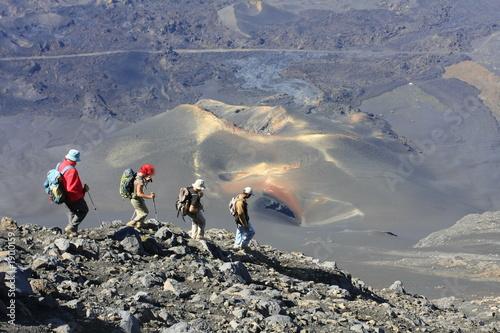 Valokuva  Descente sur un volcan