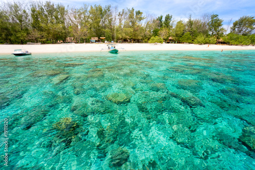Foto op Aluminium Indonesië Beautiful sea at Gili Meno, Indonesia.