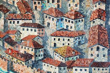 Panel Szklany Mozaika Alstadt Mittelalter, Mosaik, Scoula Silimbergo, Italia