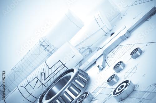 Staande foto Industrial geb. Building tools