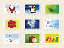 Set Of Christmas Stamps