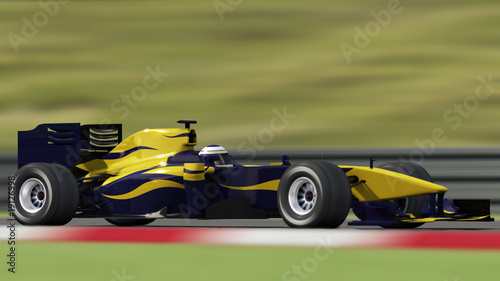 Deurstickers Snelle auto s race car on track - side view