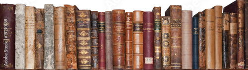 Poster Bibliotheque Libri antichi su scaffale