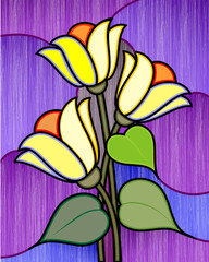 Obraz na PlexiDigital painting flower