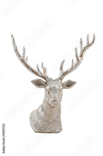 Recess Fitting Deer silver deer, isolated on white background