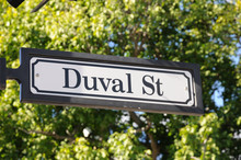 Duval Street Sign In Key West,...