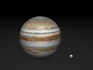 Big Jupiter & small Earth