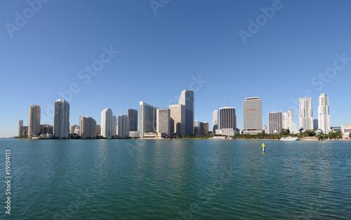Keuken foto achterwand San Francisco Downtown Miami Skyline, Florida USA