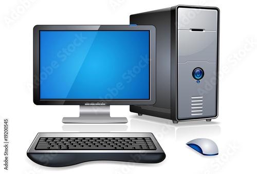 Fotografia  Realistic Computer Workstation