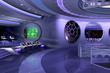 Leinwandbild Motiv 3D spaceship