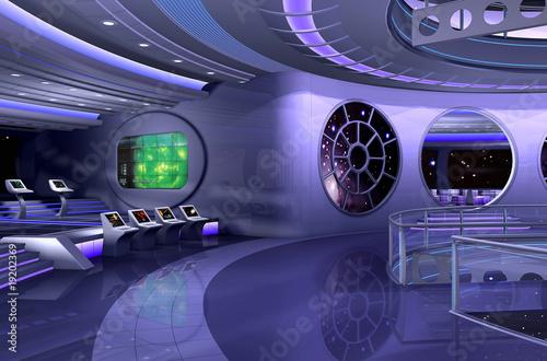 Cuadros en Lienzo 3D spaceship