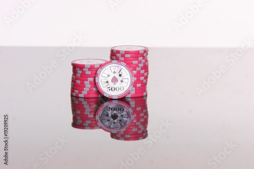 Poker Chips 5.000 Canvas Print