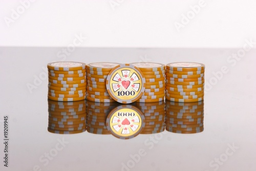 Poker Chips 1.000 Canvas Print