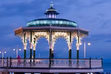 Illuminated Bandstand In Brighton England UK
