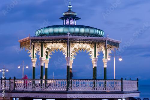 Illuminated bandstand in Brighton England UK Wallpaper Mural