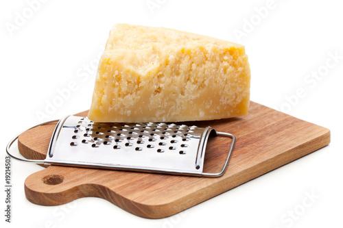 Fotografie, Obraz  Echter Parmesan mit Käsereibe