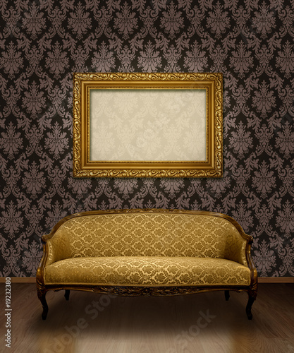 Classic sofa and frame