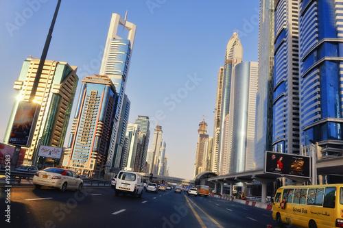 Poster Abou Dabi Skyline Downtown Dubai IV