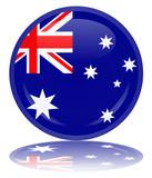 Australian Flag Web Button (Australia Aussie Vector Reflection)